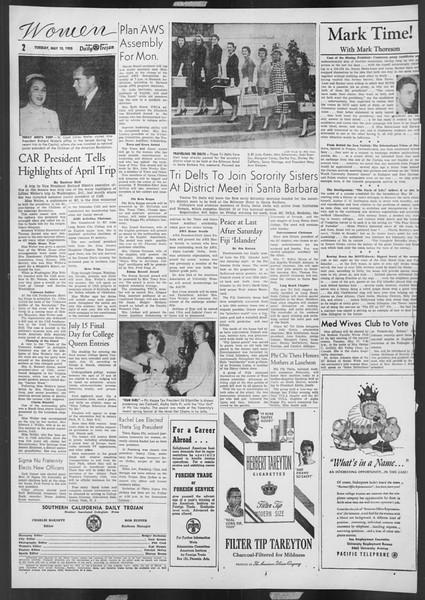 Daily Trojan, Vol. 46, No. 132, May 10, 1955