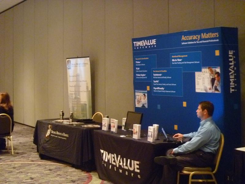 TimeValue Software Representative, Mo Mora, exhibiting at the Fall Meeting.
