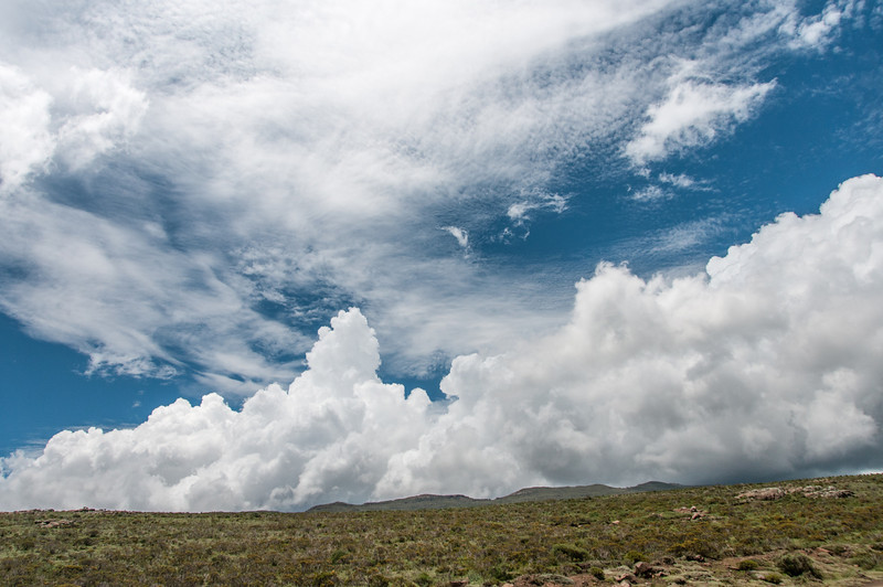 Clouds over the Sani Pass, Lesotho