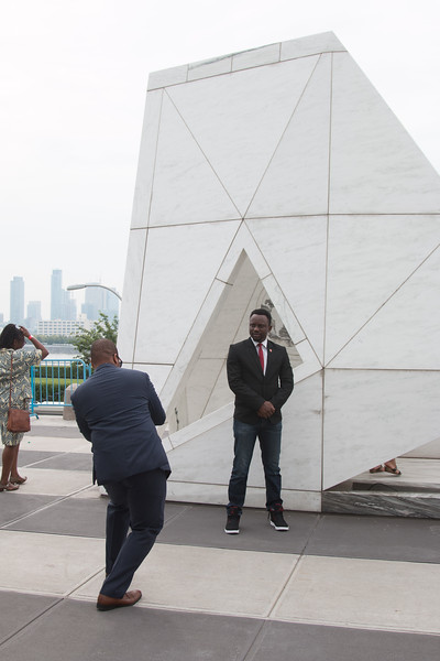 "Ark of Return, ""Permanent Memorial to Honour the Victims of Slavery and the Transatlantic Slave Trade"" -- Rafael and David visit the United Nations, New York."