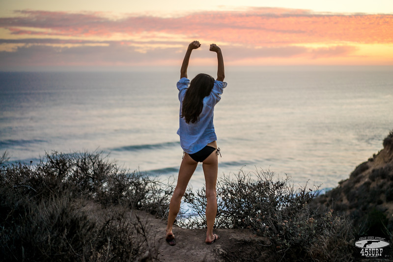 Green Eyed Goddess Malibu Sunset!  Sony A7R RAW Photos of Pretty Brunette Bikini Swimsuit Model Goddess in Seaside Bluff Cliff! Carl Zeiss Sony FE 55mm F1.8 ZA Sonnar T* Lens! Lightroom 5.3 Malibu Beach!