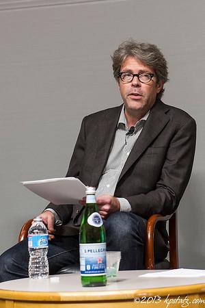 Jonathan Franzen and Daniel Kehlmann at Deutsches Haus at NYU October 2013