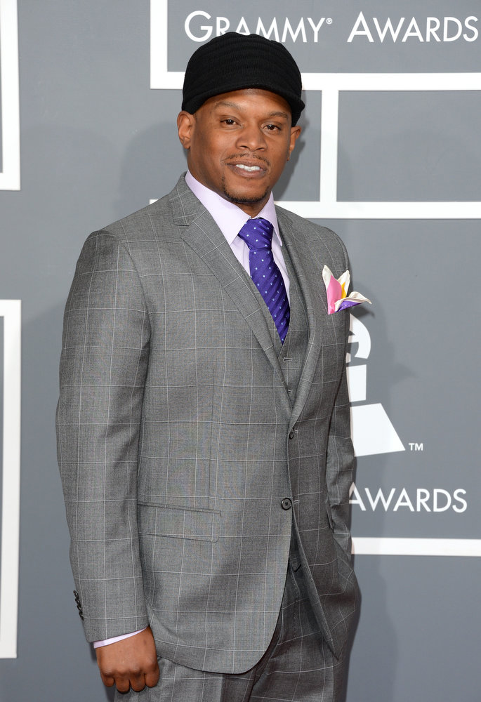 . TV personality Sway arrives at the 55th Annual GRAMMY Awards at Staples Center on February 10, 2013 in Los Angeles, California.  (Photo by Jason Merritt/Getty Images)