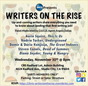 JHRTS  Writers on the Rise Panel (11/30/16)