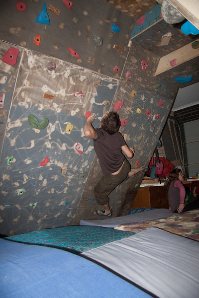 climbing wall first session