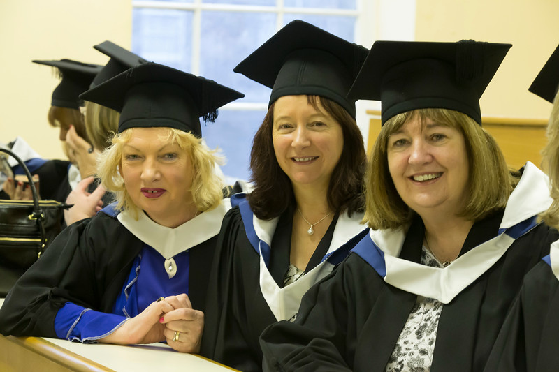 Pictured are Marion Quirke, Cork, Majella O'Callaghan, Dublin and Kathleen Berry, Dublin who graduated Bachelor of Arts in Adult Education. Picture: Patrick Browne.