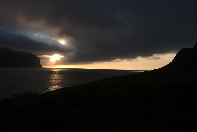 Sólsetur í Hornvík.