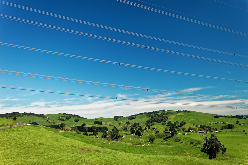 Power lines in the Waikato