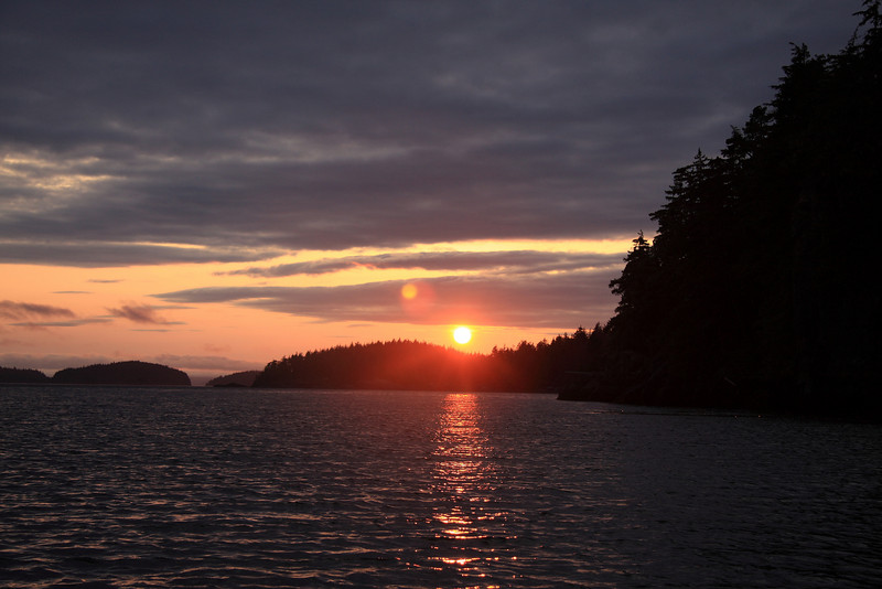 Sunset on Hansen Island.
