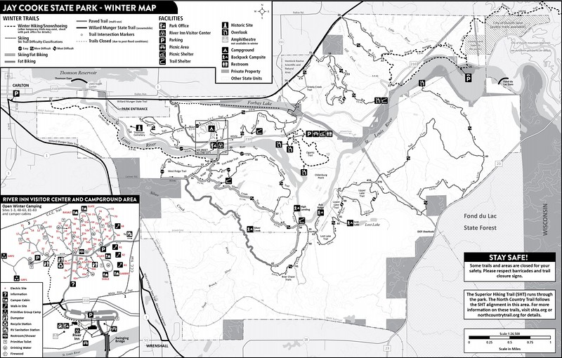 Jay Cooke State Park (Winter Map)