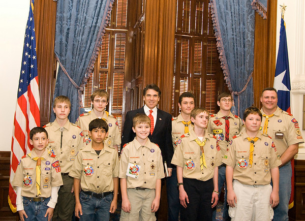 Boy Scouts Report to State (02-02-2008)