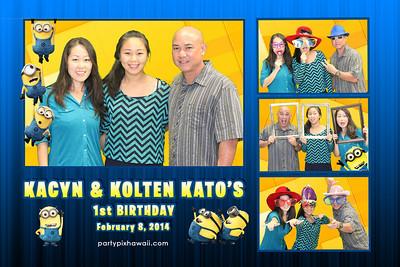 Kacyn & Kolten's 1st Birthday (Multi-Photo Collage)