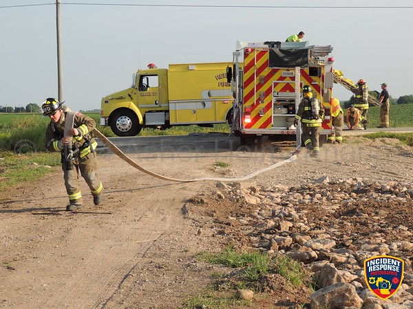 Reedsville Fire Department House Burn on August 6, 2014