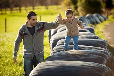 Nicolás con sus papás