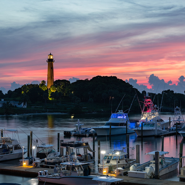 July 4th 2019 sunrise at the Jupiter Inlet