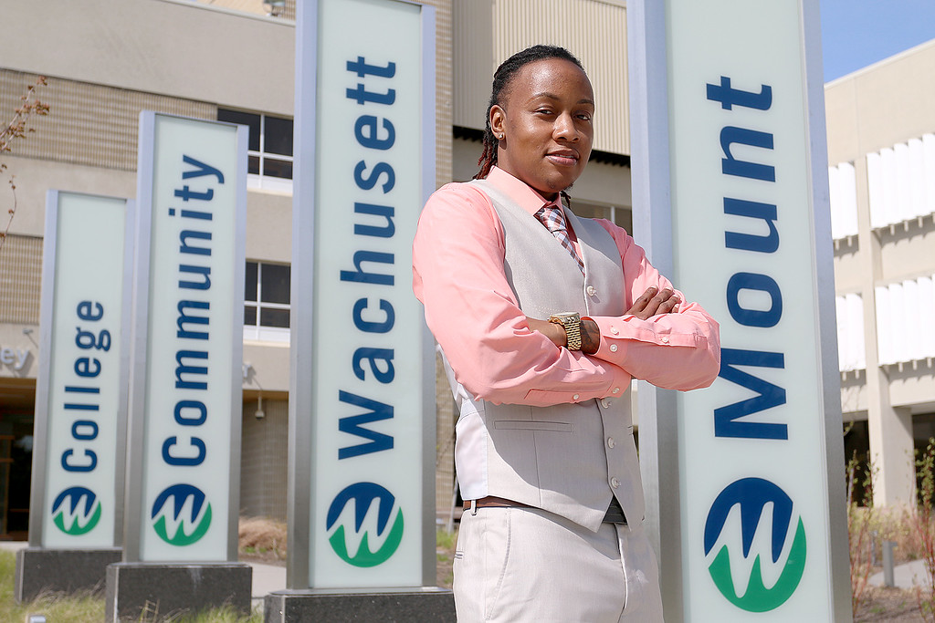 . Gemini Walter is a model student who has lived a difficult life and will be graduating for Mount Wachusett Community College on Wednesday night. SENTINEL & ENTERPRISE/JOHN LOVE