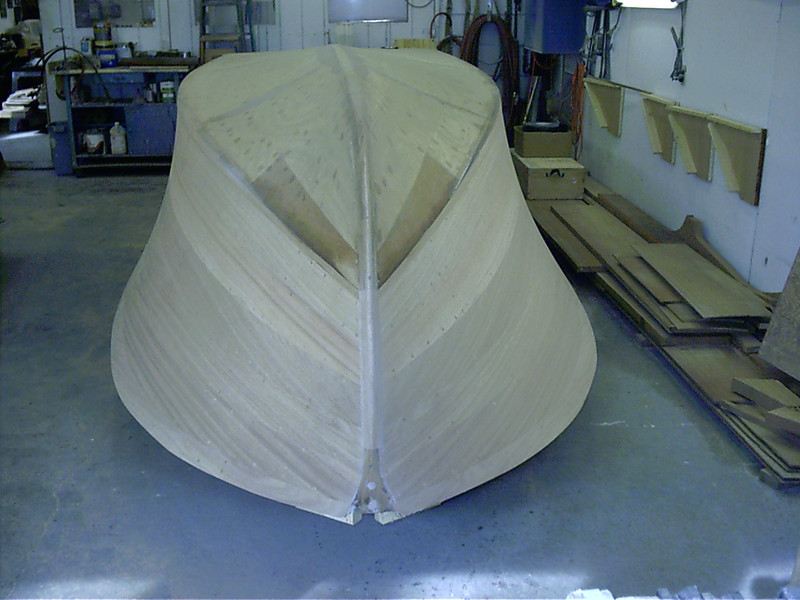 Front view of finished sanded sides.