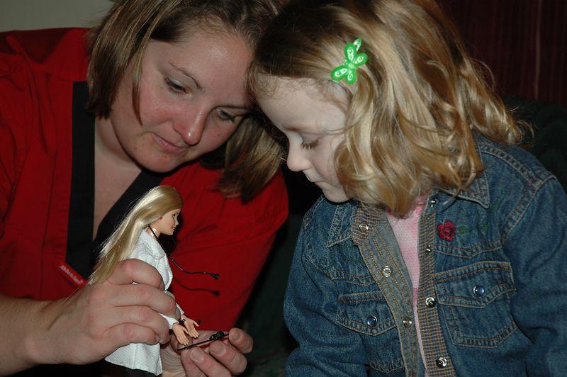 Mary, Ellen, and Veterinarian Barbie