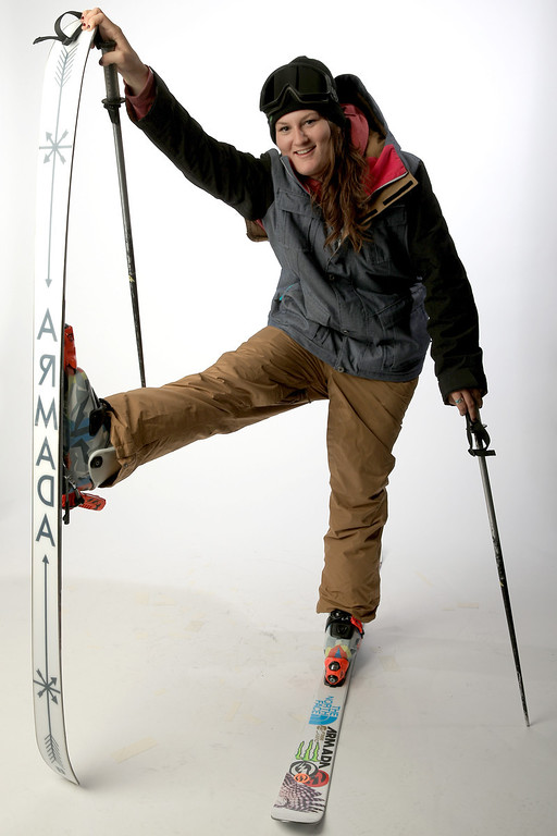. Freeskier Devin Logan poses for a portrait during the USOC Media Summit ahead of the Sochi 2014 Winter Olympics on October 1, 2013 in Park City, Utah.  (Photo by Doug Pensinger/Getty Images)