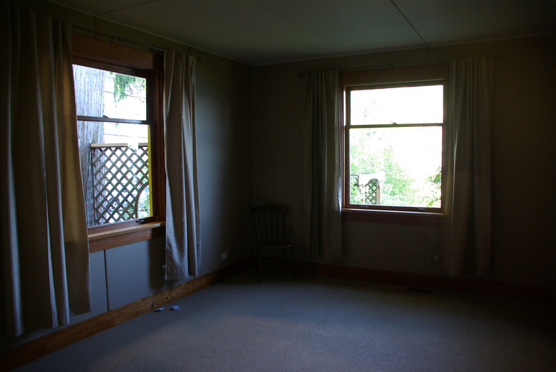 Master bedroom, facing south-east.