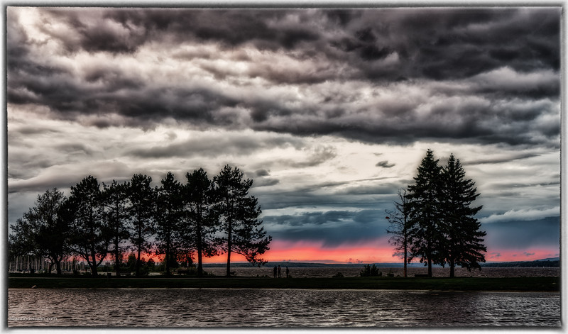 Andrew Hayden Park at a Stormy Sunset