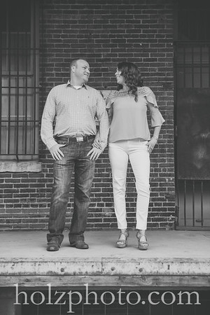Brittany & James B/W Engagement Photos