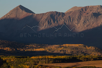 Fall Colors at sunrise in the San Juans, CO