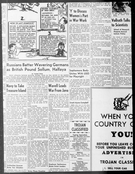 Daily Trojan, Vol. 33, No. 62, December 16, 1941