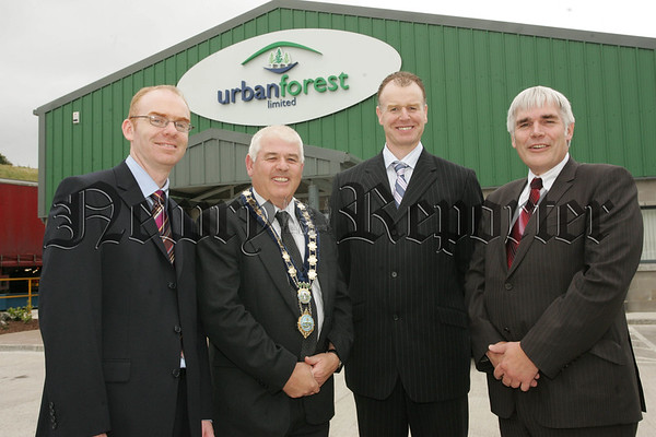 Pictured with Mayor Michael Cole are at the opening of Urban Forest limited are, Eugene Kelly DOE, Pat Durkin Managing Director Urban Forest and Steve Creed Director of Business Groth WRAP. 07W37N4