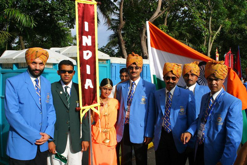 Visiting the Indian delegation