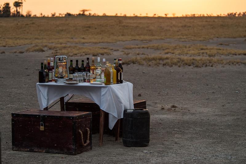 Sundowner Time, Makgadikgadi Pans