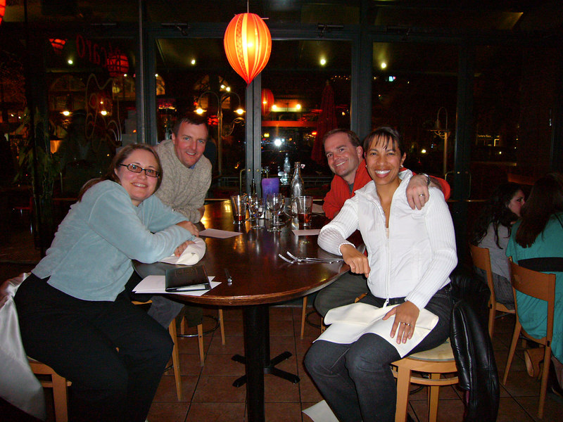 A memorable night out - Shelly, Rick, John and Valeria