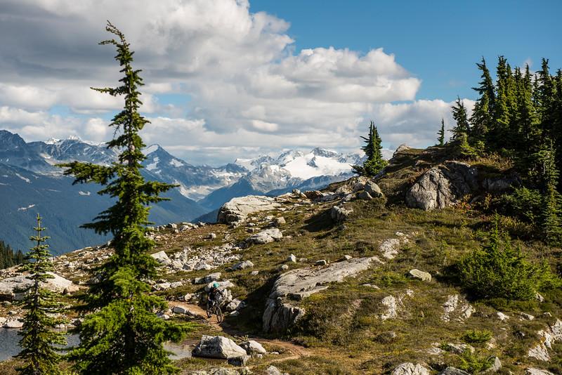 Mountain biking near Whistler, British Columbia, Lord of the Squirles, Sproat mountain.
