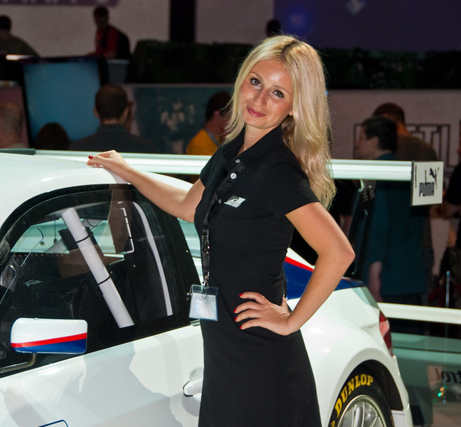 EA/BMW girl at GamesCom