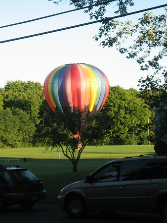 Hot air balloons in South Hadley