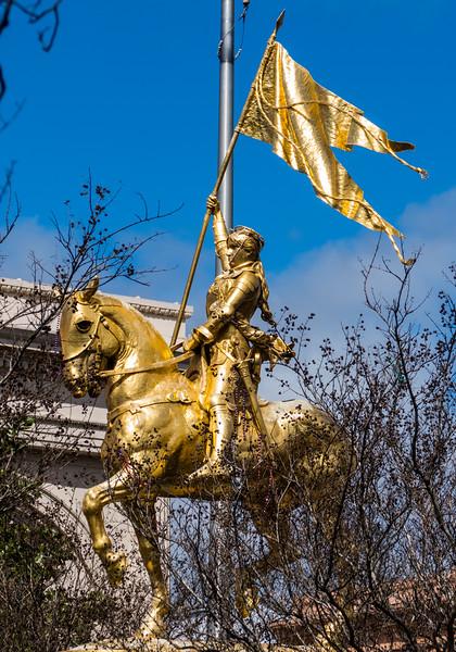 "Joan of Arc statue on the ""Place De France"" ,  Decatur Street"