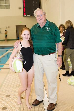 1-19-16 Woodward Swim Meet & Senior Night