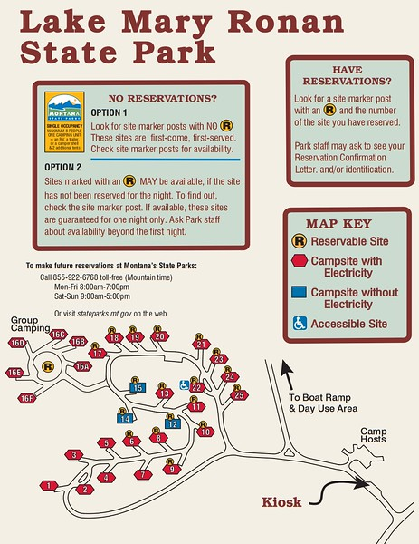 Lake Mary Ronan State Park (Campground Map)