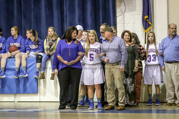 HHA Basketball Senior night 2-9-16