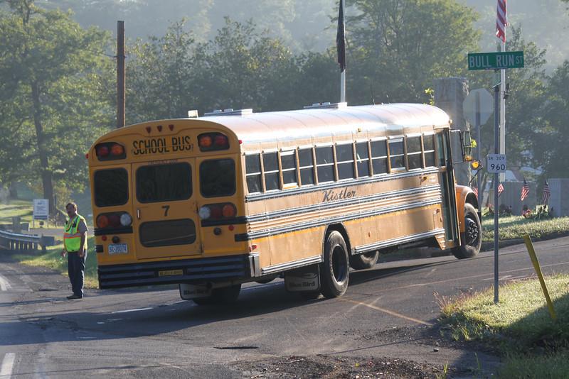 School Bus Breaks Down on Road, Seek, Coaldale, 8-30-2011 (2).JPG