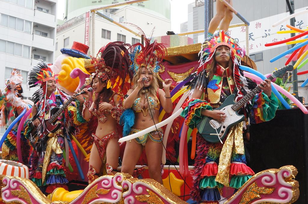 At the Asakusa Samba Carnival.