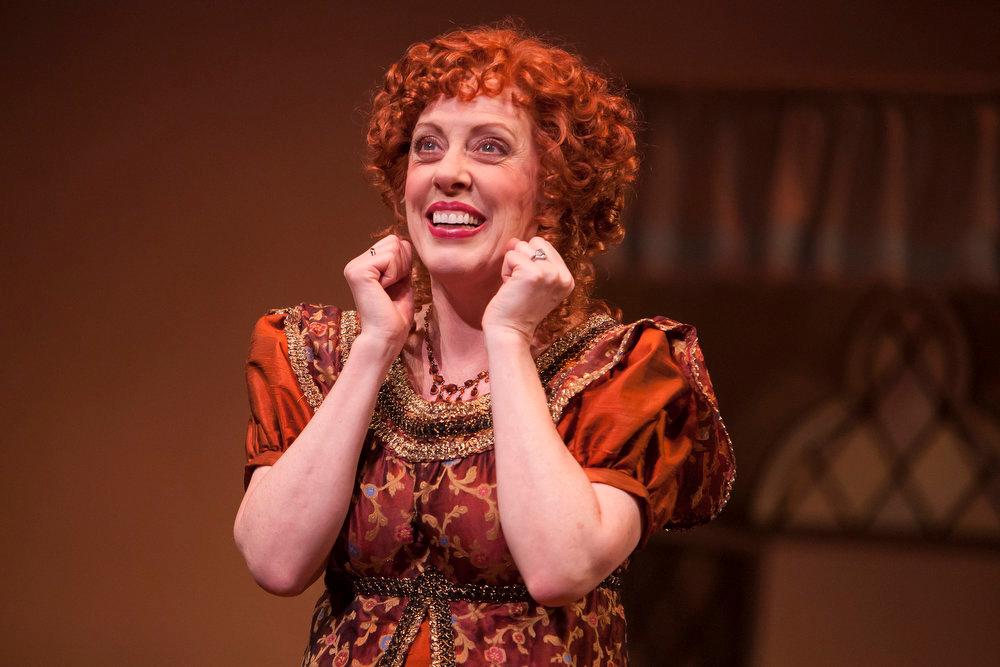 ". Ruth Gottschall as Mrs. Jennings in the Denver Center Theatre Company\'s world premiere of \""Sense & Sensibility The Musical.\""   Photo by Jennifer M. Koskinen"