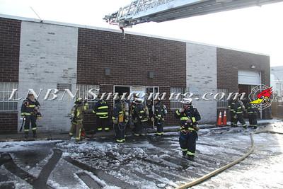 East Farmingdale Fire Co. Working General Alarm 68 Lamar St. 1-25-15