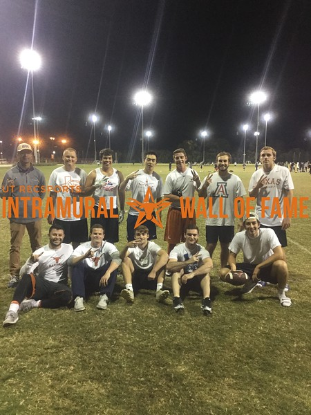 Fall 2017 Flag Football Men's C Runner Up bEast Texas