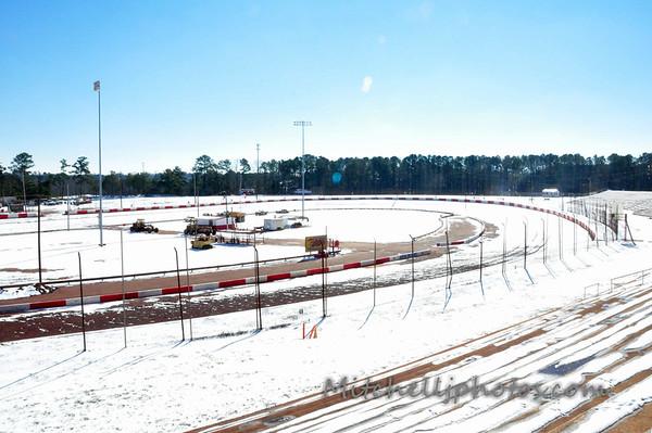 Dixie Speedway Snow 1/30/14