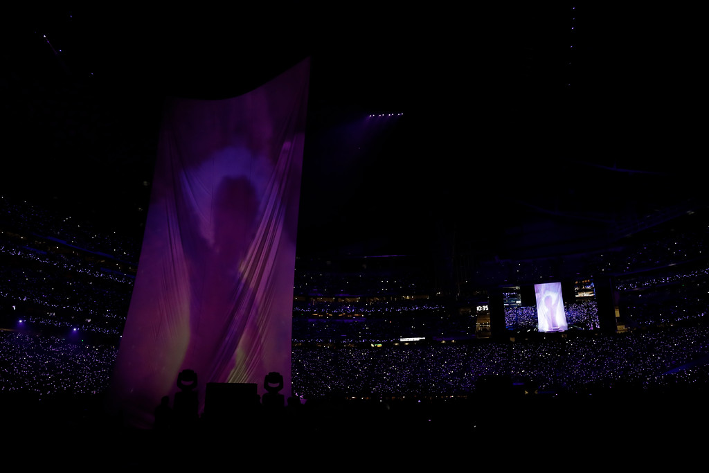 . Justin Timberlake performs during halftime of the NFL Super Bowl 52 football game between the Philadelphia Eagles and the New England Patriots Sunday, Feb. 4, 2018, in Minneapolis. (AP Photo/Chris O\'Meara)
