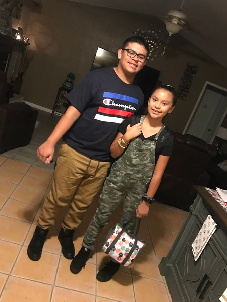 Yazmine and Daniel | 5th grade and 9th grade | Knowles Elementary and Leander High School