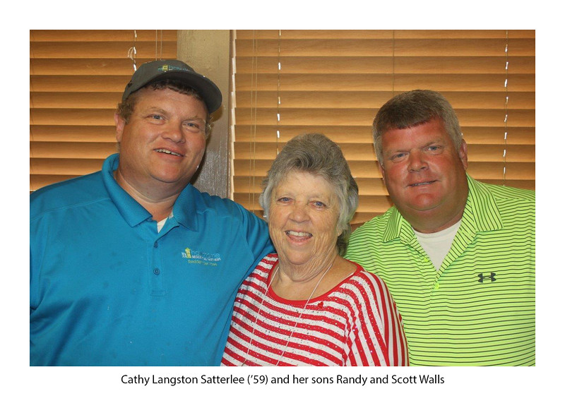 Randy Walls, Cathy Langston Satterlee '59, Scott Walls.jpg