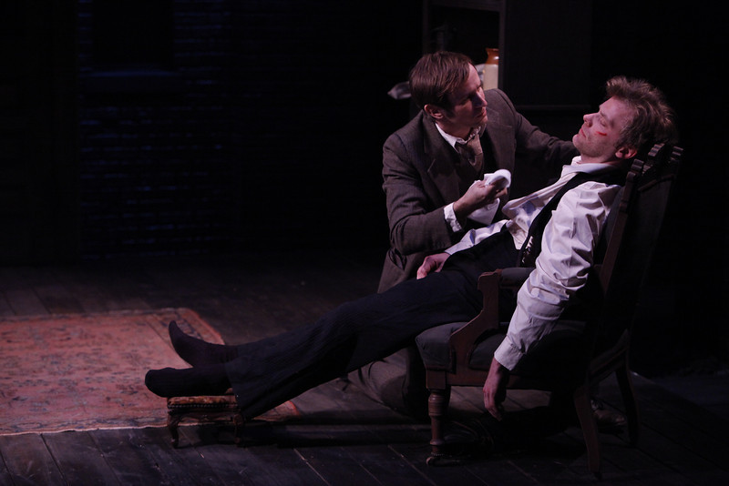 Nick Cordileone and Eric Martin Brown in THE WIDOWING OF MRS. HOLROYD by D.H. Lawrence 