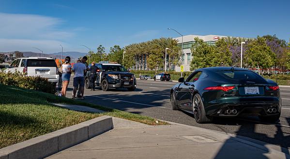 Irvine: Crash Involving Lamborghini